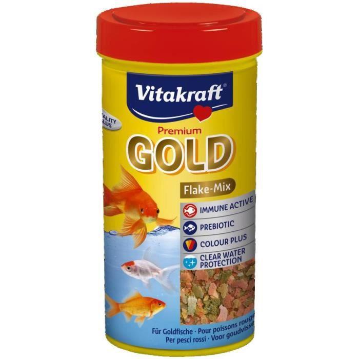 Vitakraft gold aliment en flocons pour poisson rouge for Flocon pour poisson