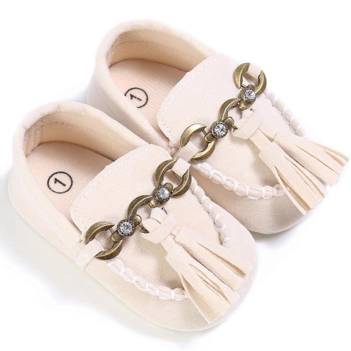 Lit Anti petits beige Chaussures Confort Prewalker Bb Mocassins Slip Mignon Doux Tout On qtHnawT