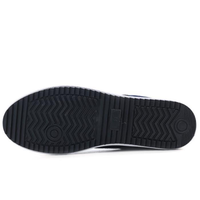 Chaussure Homme Mode Véritable Occasionnelles En Cuir Daim Marque Hommes Chaussures High Top Patchwork Classique Confortable Taille RHV2c