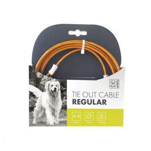 MPETS Câble d'attache normal TIE OUT - Pour chien - 4m -Orange