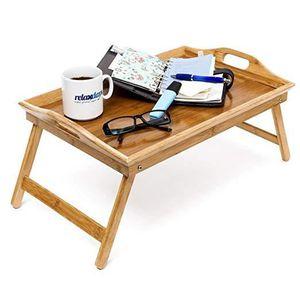 PLATEAU DE TABLE Tablette de Lit Pliable Plateau Petit Déjeuner au