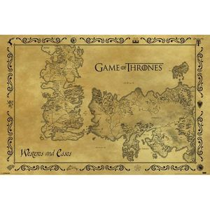 AFFICHE - POSTER Game Of Thrones - Antique Map - 61x91,5cm - AFFICH
