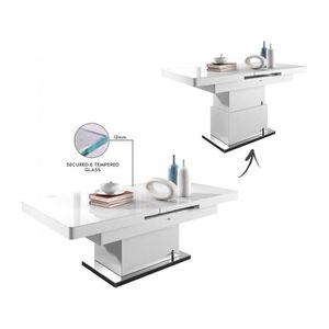 TABLE BASSE Table design 138-175 cm extensible et relevable co