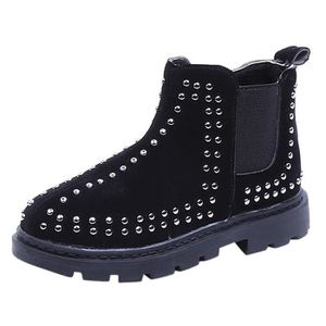c73e2c78708c9 Automne Hiver Enfant Garçons Martin Bottes Chaussures pour enfants Filles  Zipper Bottes Casual ZBY81022541BK Noir