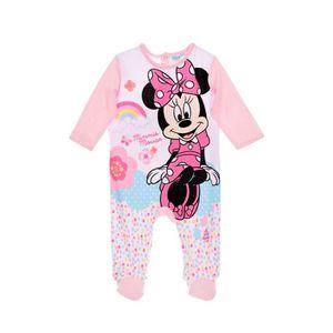 PYJAMA MINNIE Pyjama bébé coton rose clair - Fille
