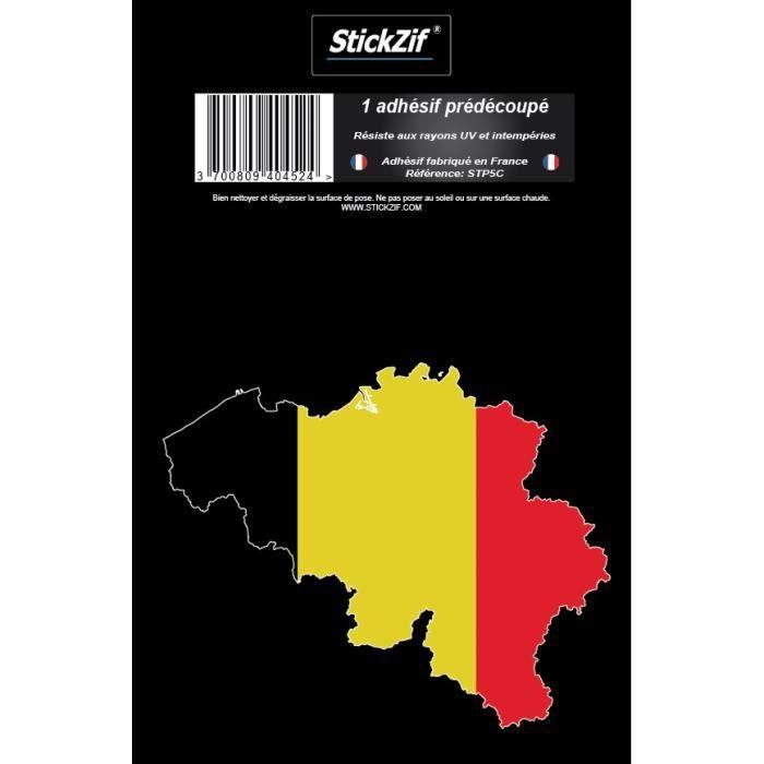 STICKZIF 1 Adhésif Carte Belgique STP5C