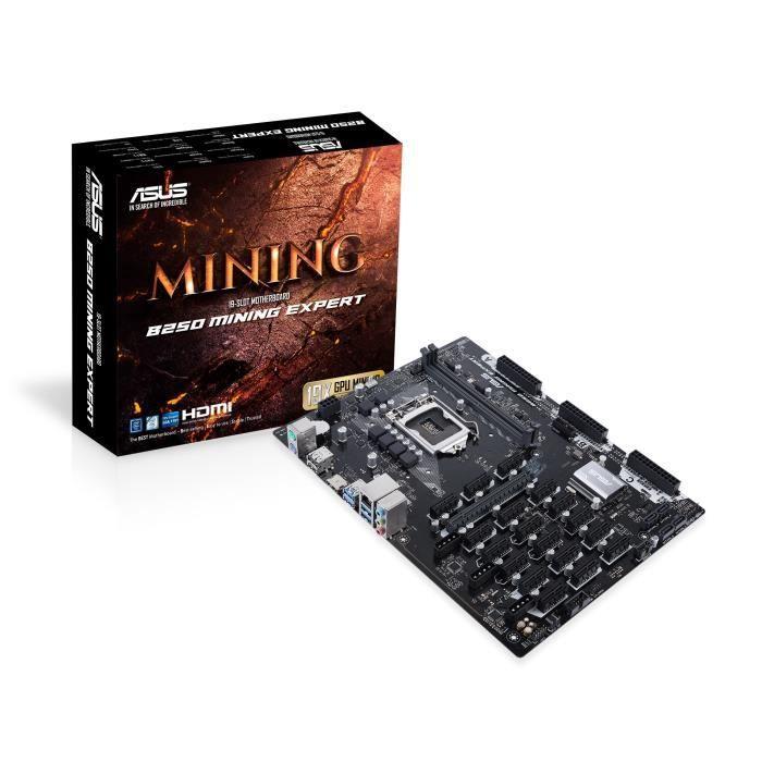 ASUS Carte Mère B250 Mining Expert - Supporte jusqu'à 19 CPU - 90MB0VY0-M0EAY0