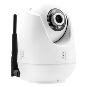 KONIG Caméra de surveillance IP Pan-Tilt intérieure VGA - Blanc