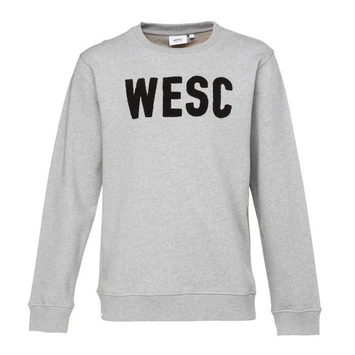 WESC Sweat-shirt Crew Goran - Homme - Gris