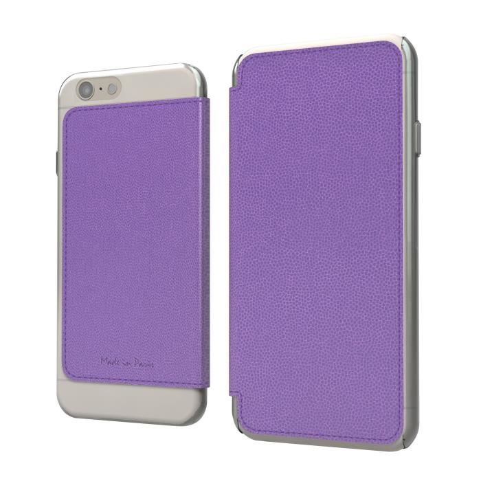 MUVIT Made in Paris Etui - Pour Iphone 6+, 6s+ - Violet