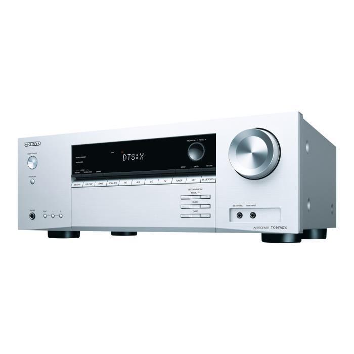 ONKYO TX-NR474 Ampli-tuner A/V réseau 5.1 canaux - Bluetooth - Dolby Atmos - Silver