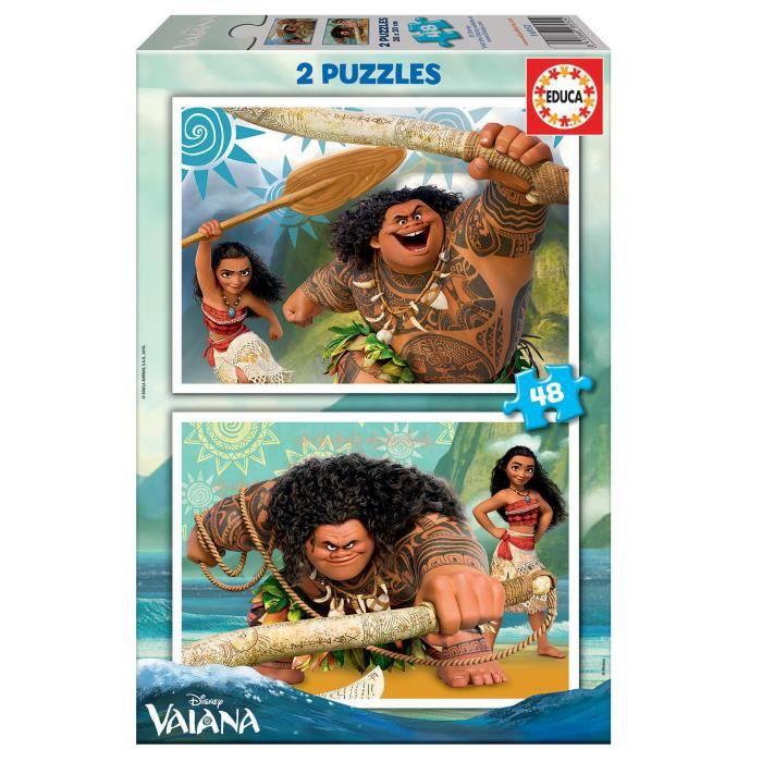 PUZZLE EDUCA - Puzzle VAIANA 2x48 pcs