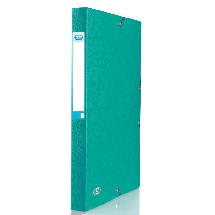 Boîte de classement ELBA Boite eurofolio - 24x32 cm - Dos 25 mm - Vert