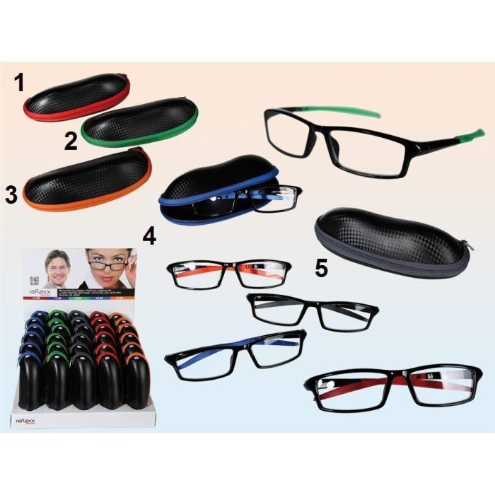 Paire lunette de lecture +3.00 avec étui simili Cuir - Loupe Grossissante -  Mod5 Noir - 239 ba245b70e97a