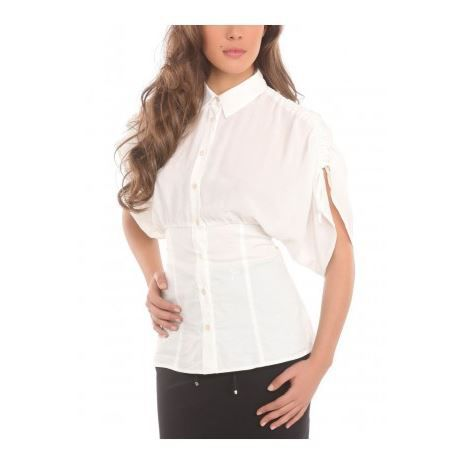 2d0fc3d2f311 Chemise GUESS BY MARCIANO Femme … Blanc - Achat   Vente chemisier ...