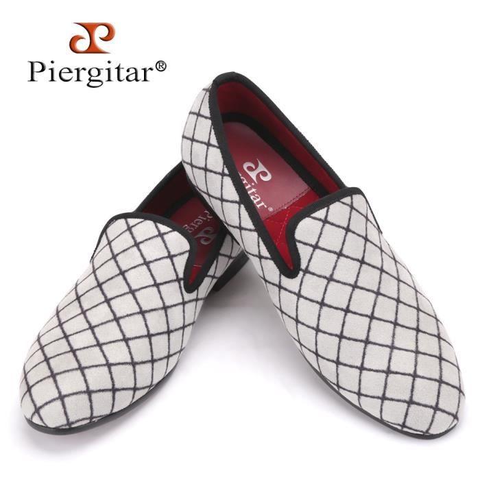Slipper Chaussures Hommes Mocassins Fumer Homme Lattice Taille Mode Plus Velours Flats Quatre Couleurs Uaxpx