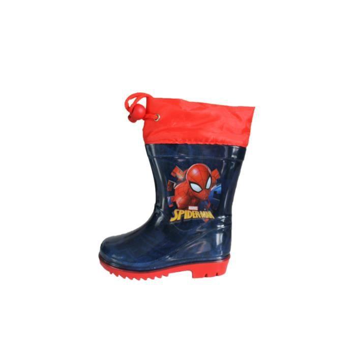 bottes de pluie spiderman bleue et rouge okjvJiTLCh