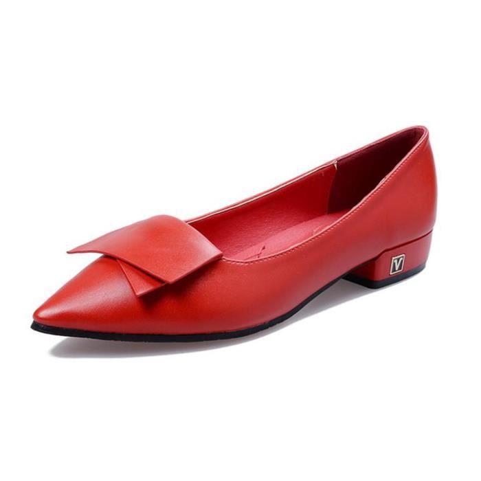 Femmes Printempst Chaussure Faible Chaussures Talon Rouge Bxx Comfortable xz069noir41 trxhdsQC