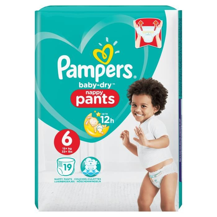 COUCHE Pampers Baby-Dry Pants Taille 6 15+ kg - 19 Couche