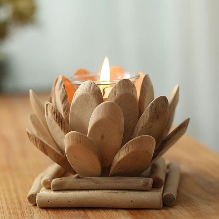 D coration chandelier bougeoir en bois petit objet cr atif achat vente objet d coratif for Petit objet deco