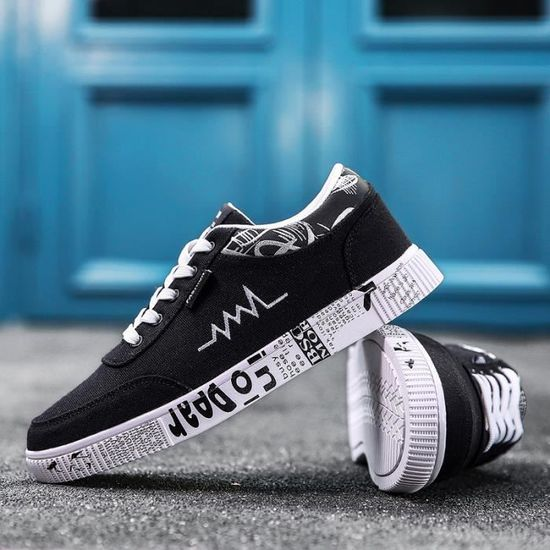 Sneakers Hommes Toile Chaussures Casual Chaussures De Toile Hommes Sneakers Blanc Blanc - Achat / Vente basket 4613b4