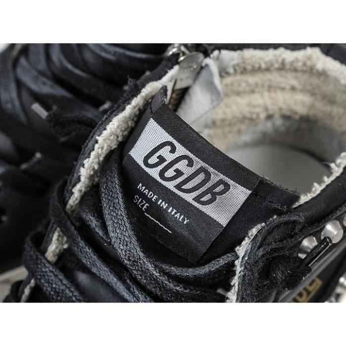 Golden Goose Hommes / Femmes Slide Black Handmade Chaussures