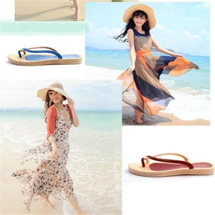 Tongs femme Chaussures tongs de luxe agréable plage massant Haut qualité supérieure Nouvelle arrivee Grande Taille beach rétro TcSQkb2ty
