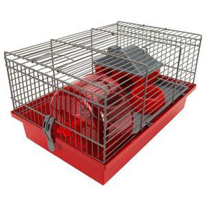 TYROL Cage Frida équipée 35,5x24x21cm - Pour rongeur