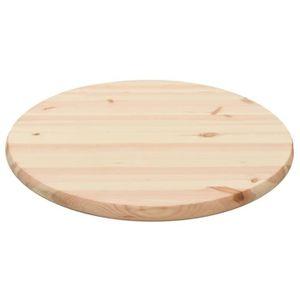 PLATEAU DE TABLE Table ronde Dessus de table 28 mm 60 cm Pin nature