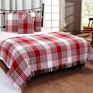 jete de canape rouge achat vente jete de canape rouge pas cher cdiscount. Black Bedroom Furniture Sets. Home Design Ideas