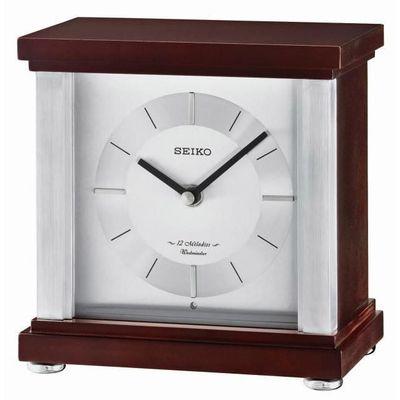 Horloge De Cheminee En Bois Seiko 12 Melodies Westminster Chimes