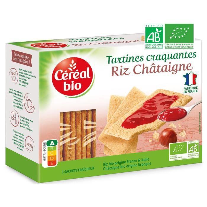 CEREAL BIO Tartines craquantes, spécialités céréalières à la châtaigne Bio - 145 g