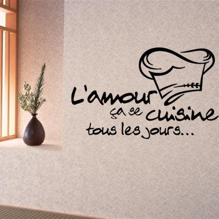 Decoration murale cuisine achat vente pas cher for Stickers pour cuisine decoration