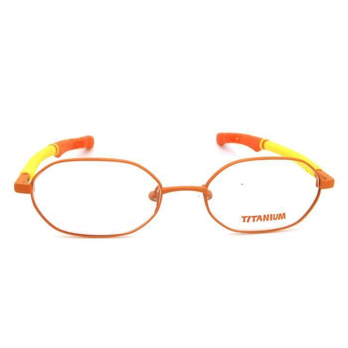 Forme ovale mignon pour enfants Lunettes orange Cadres optique