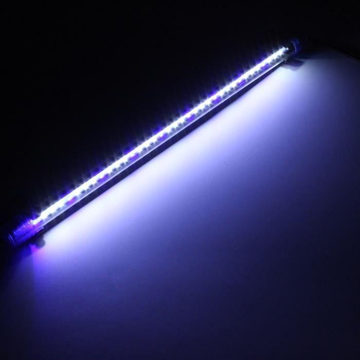 50cm Aquarium Lampe Led 2835 Smd Strip Etanche Submersible Fish Bleu Us Prise