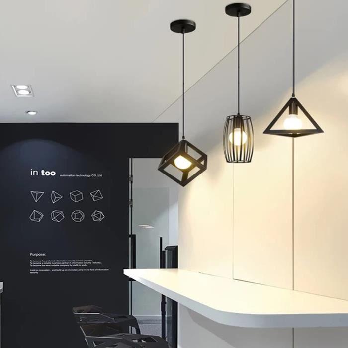 Noir Vintagetête Différents Suspension Incluse Luminaire Avec ampoule E27 Métal Non Cage Unique Forme 3 qVGzUpMS