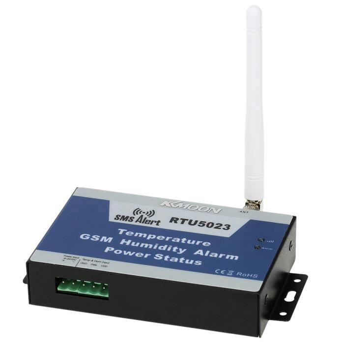 KKmoon GSM SMS d'alarme système température humidité alimentation État  surveillance Support Android APP contrôle 850/900/1800/1900