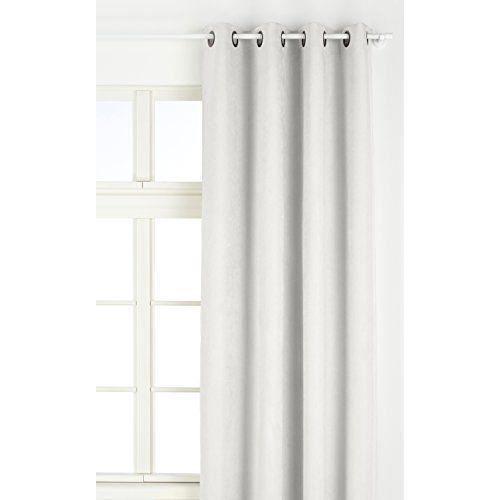rideaux suedine blanc achat vente pas cher. Black Bedroom Furniture Sets. Home Design Ideas
