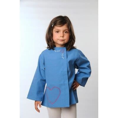 tablier pour ecole maternelle bleu achat vente chemisier blouse cdiscount. Black Bedroom Furniture Sets. Home Design Ideas