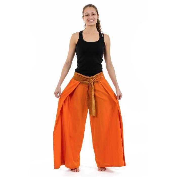sari Pantalon Orange Fantazia cool orange Orih ethnique baba ceinture femme Pantalon brillant leger qqUIZHw8p