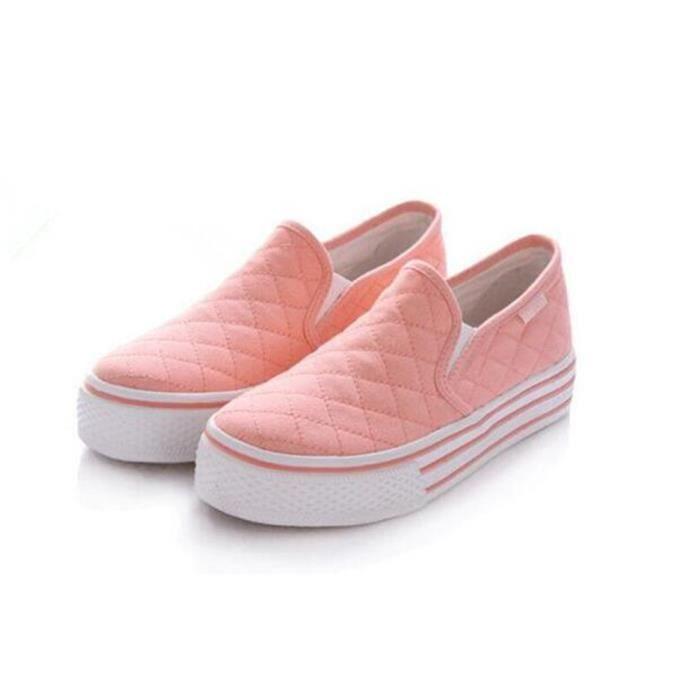 chaussures femme Marque De Luxe 2017 ete Poids Léger Moccasin femmes chaussure en tissu Respirant Durable Grande Taille 35-39