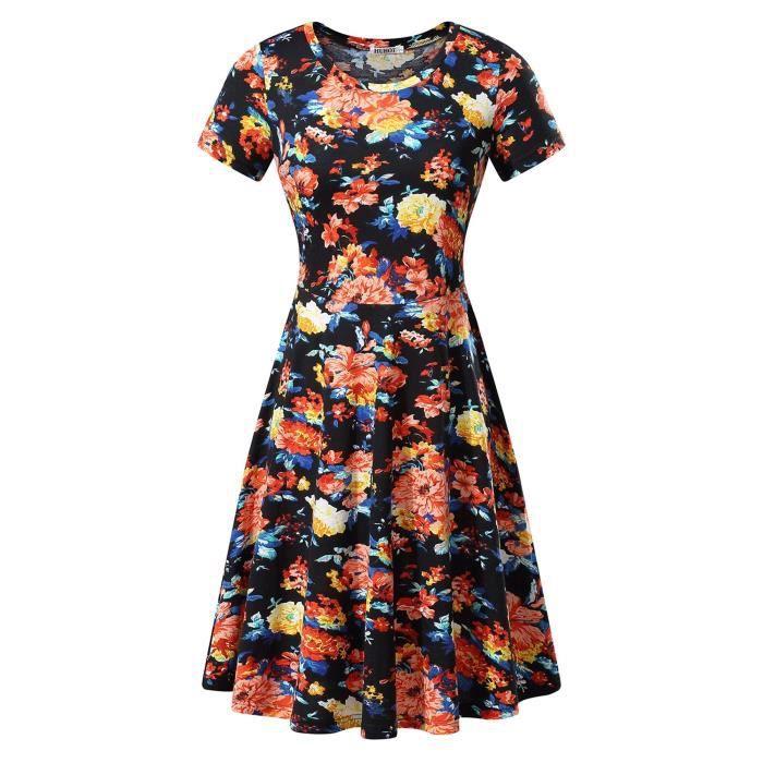 Craze robe coupe ample tunique flowy extensible pour casual cocktail de travail salon de plage sommeil FQ7WS