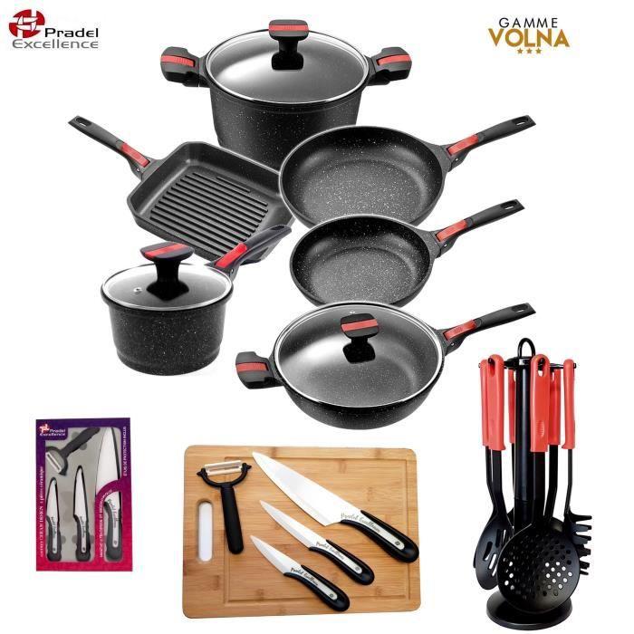 Pradel Excellence - gamme luxe VOLNA- Batterie de cuisine 21 pièces -  Faitout - Poêles - casserole - sauteuse...- induction - 317553c34593