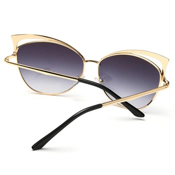 85d85e0f9b3ce4 SHARPHY® Lunettes de soleil Femme marque de Luxe designer gris ronde jolie  magnifique