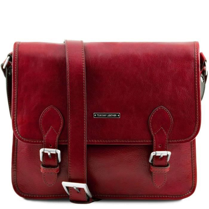 Tuscany Leather - Cartables en cuir - Postman - Rouge (TL141288)