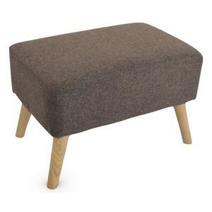 POUF - POIRE Pouf repose-pieds design scandinave HOLM marron