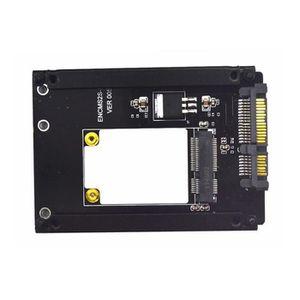 DISQUE DUR SSD Carte d'adaptateur mSATA vers SATA min SATA a SATA