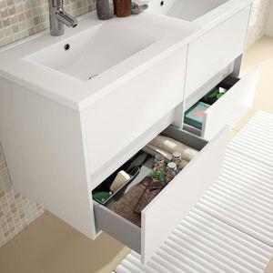 MEUBLE VASQUE - PLAN Meuble salle de bain suspendu et vasque porcela...