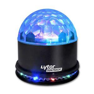 BOULE A FACETTES Boule lumineuse LYTOR de 48 LEDs RVB avec 3 LEDs 1