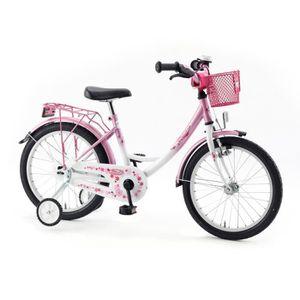 VÉLO ENFANT Vermont Girly - Vélo enfant 18 pouces - rose/blanc